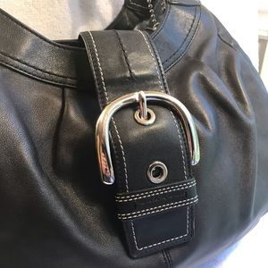 Coach Bags - COACH Purse Bag Buckle Large Leather Black